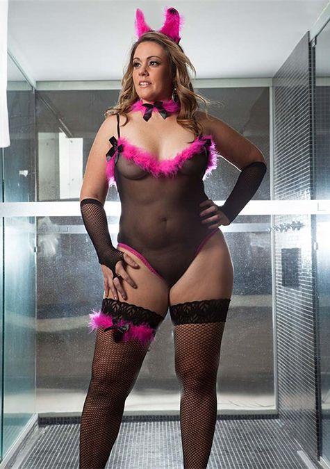 Fantasia Feminina Coelha Playboy GG