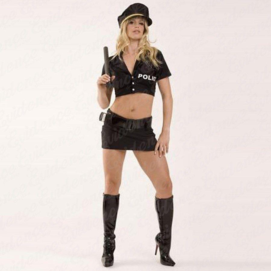 Fantasia Feminina Policial Americana com Saia