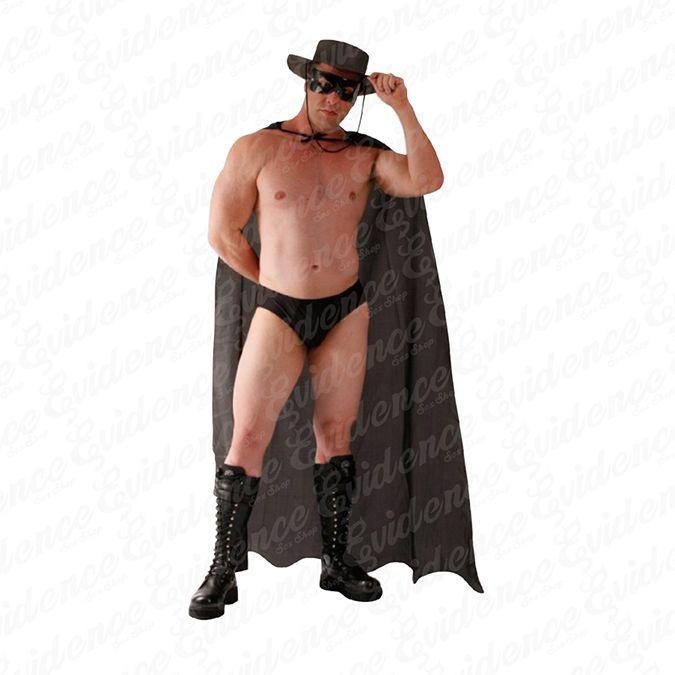 Fantasia Masculina Zorro Preta