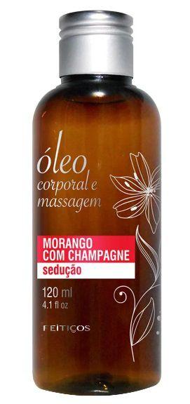 Óleo para Massagem Aroma Morango com Champagne