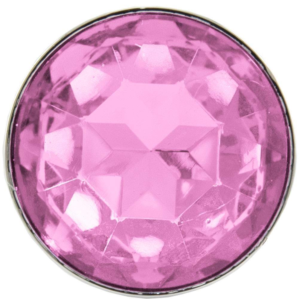 Plug Anal Ondulado com Cristal Pink