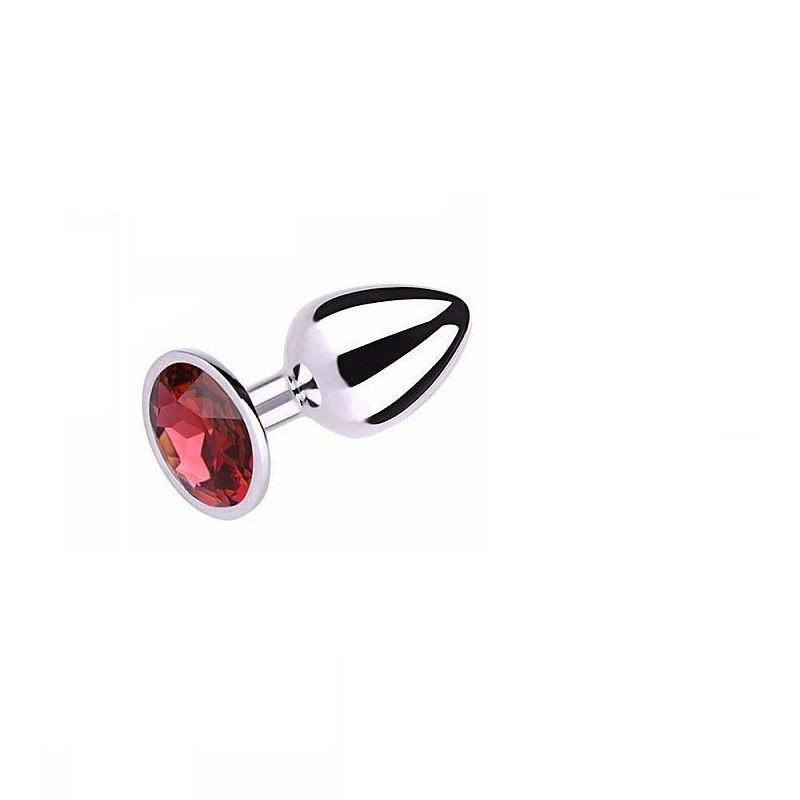 Plug Anal Pedra Cristal P Vermelho
