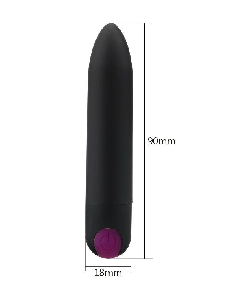 Vibrador Bala 10 velocidades USB