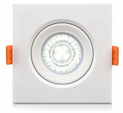 Luminária Spot LED de PVC Embutir 3w Branco Frio 6000k