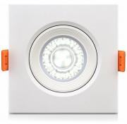 Luminária Spot LED de PVC Embutir 5w Branco Frio 6000k
