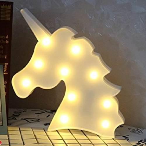 Luminária LED Abajur Unicórnio para Decoração Mesa e Parede