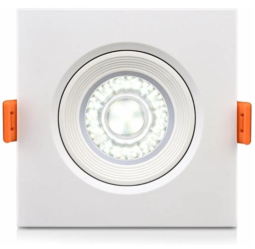 Luminária Spot LED de PVC Embutir 5w Branco Quente 3000k