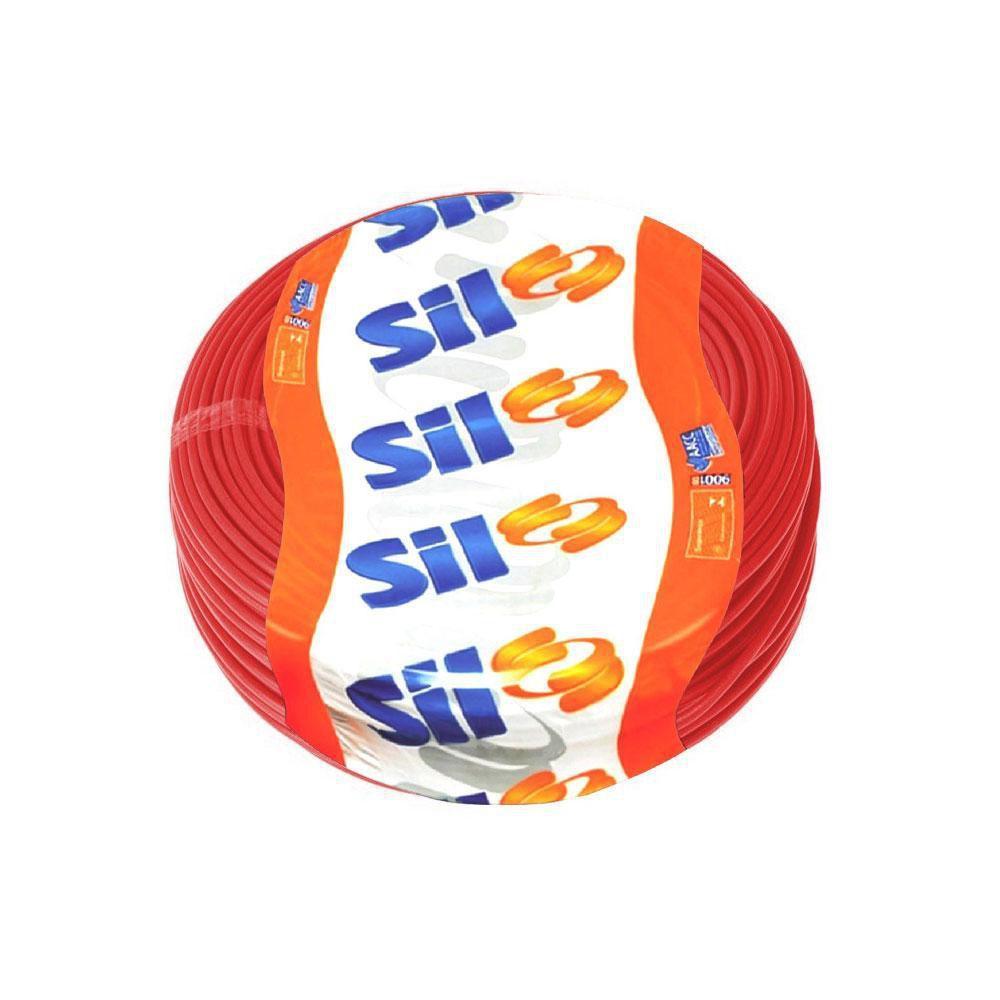 Fio Cabo Flexível Sil 2,5mm VERMELHO Rolo 100 Metros