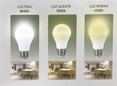 LÂMPADA LED - 3 TEMPERATURAS - 9W