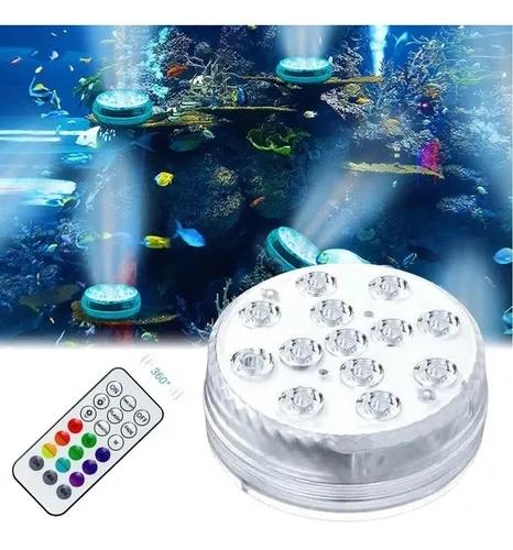 LUMINARIA DE PISCINA LED - RGB A PILHA - IP68