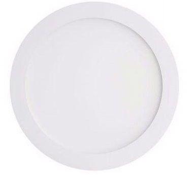 Luminária Plafon LED de Embutir 18w Branco Frio 6000k Redondo