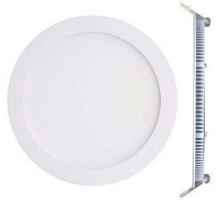Luminária Plafon LED de Embutir 18w Branco Quente 3000k Redondo