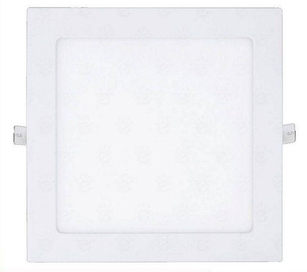 Luminária Plafon LED de Embutir 24w 25w Branco Frio 6000k Quadrado