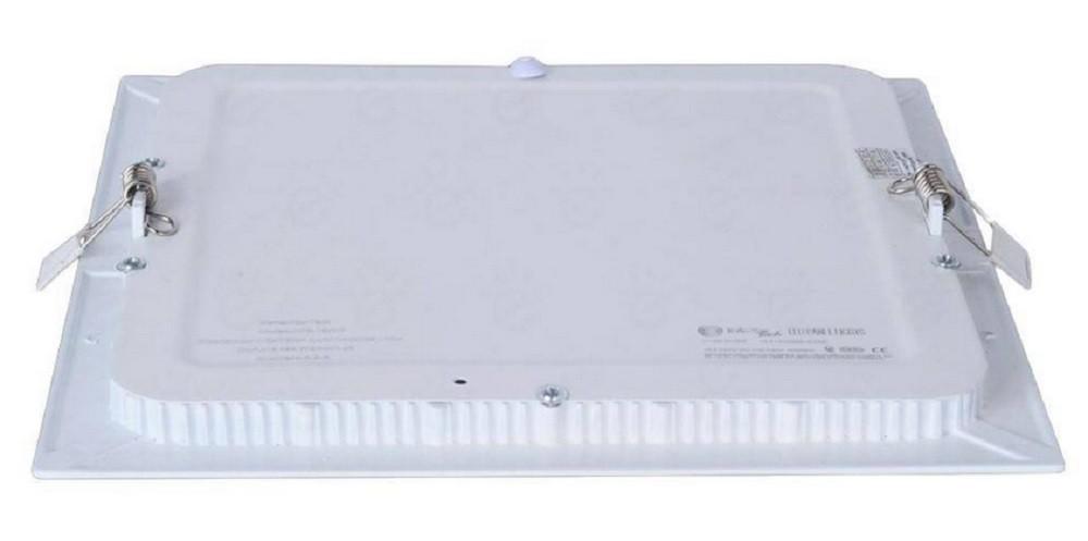 Luminária Plafon LED de Embutir 3w Branco Frio 6000k Quadrado
