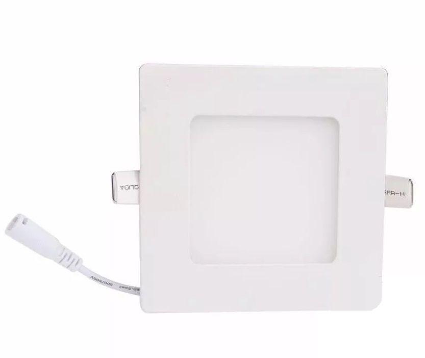 Luminária Plafon LED de Embutir 3w Branco Quente 3000k Quadrado