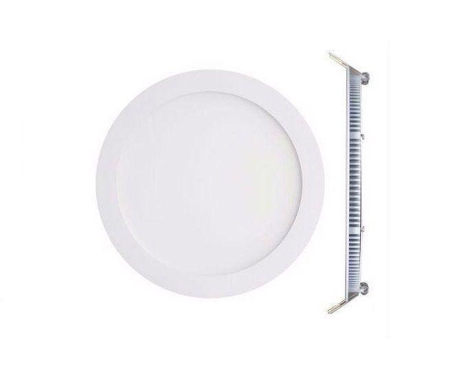 Luminária Plafon LED de Embutir 12w Branco Frio 6000k Redondo