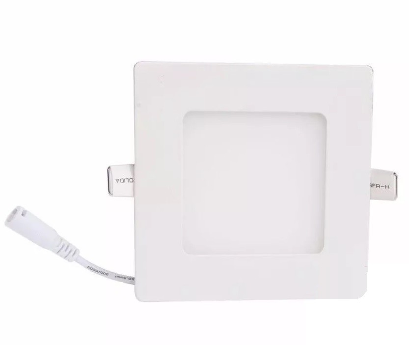 Luminária Plafon LED de Embutir 6w Branco Quente 3000k Quadrado