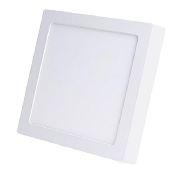 Luminária Plafon LED de Sobrepor 24w Branco Quente 3000k Quadrado