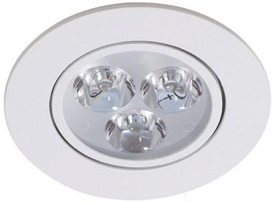 Luminária Spot LED de Embutir 3w Branco Frio 6000k Redondo