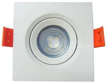 Luminária Spot LED de PVC Embutir 3w Branco Quente 3000k