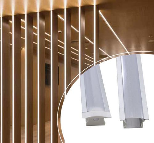 Perfil Canaleta para Embutir Fita de LED Barra com 2 metros (Parede ou Gesso)