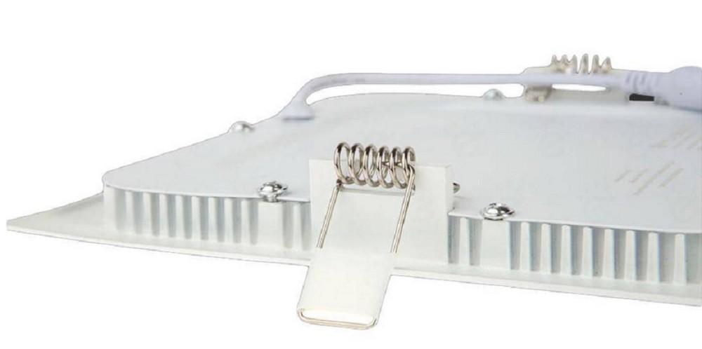 Luminária Plafon LED de Embutir 18w Branco Quente 3000k Quadrado