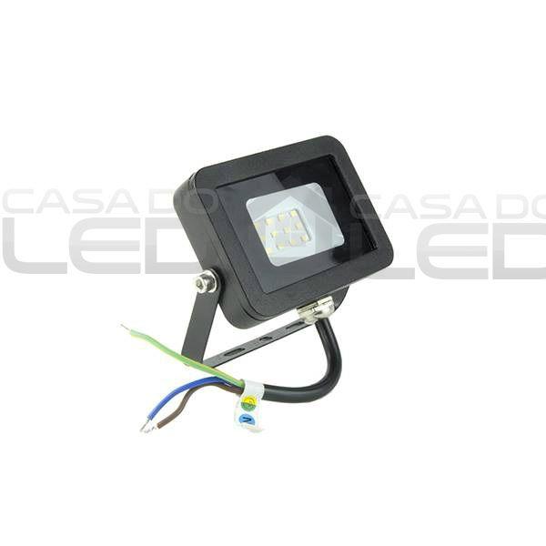 Refletor LED SMD Slim 10W Branco Frio Uso Externo