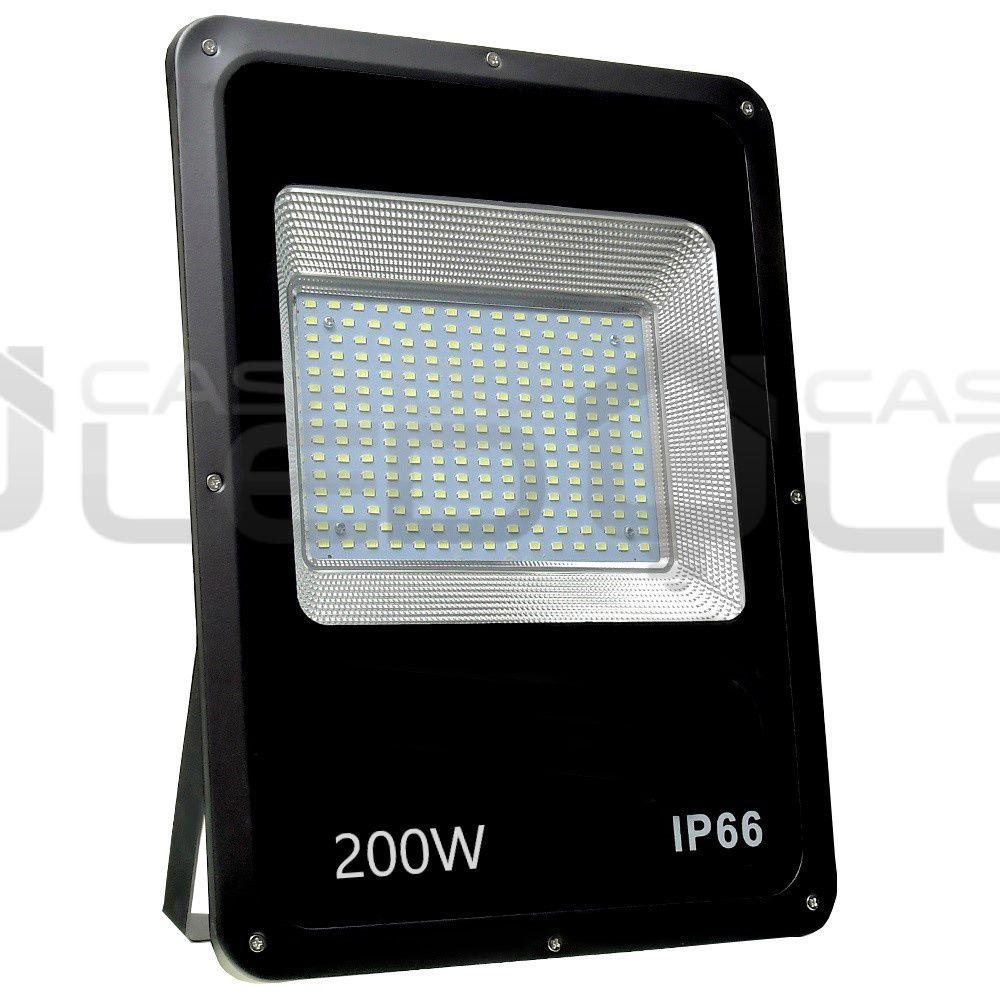 Refletor LED SMD Slim 200W Branco Frio Uso Externo