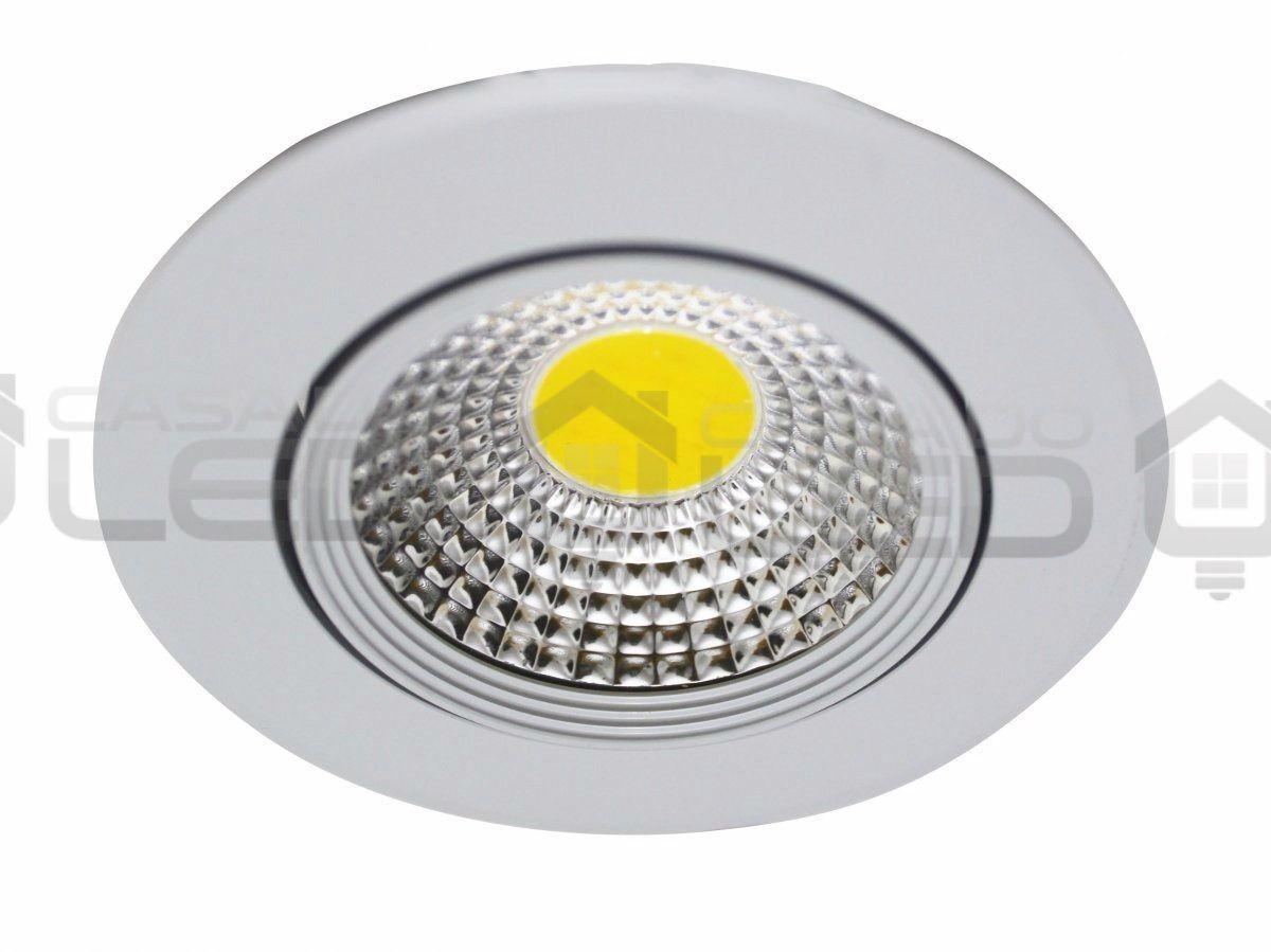 Spot LED COB 7w Redondo Direcionável 3000k Redondo