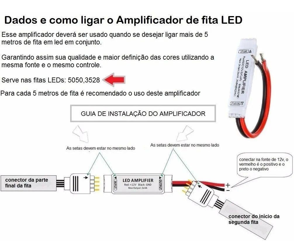 TERMINAL AMPLIFICADOR PARA FITA RGB