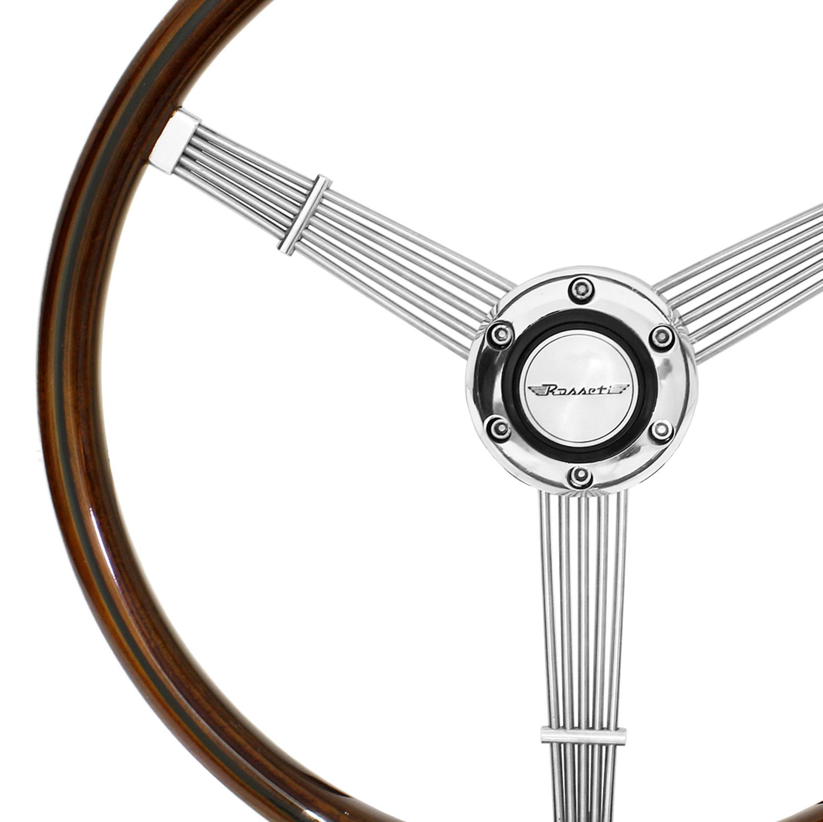 Volante Rosseti Banjo FB 356 Madeira 385mm Reto