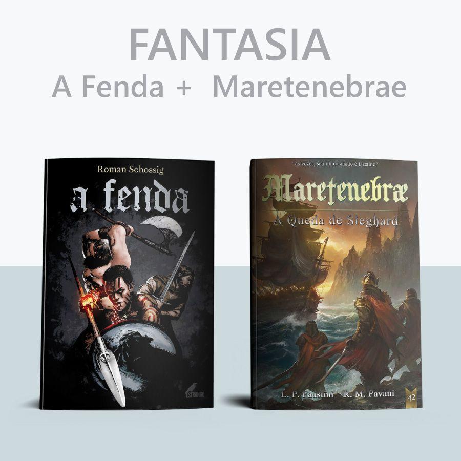 Combo A Fenda + Maretenebrae: a queda de Sieghard  - Loja da Editora Estronho