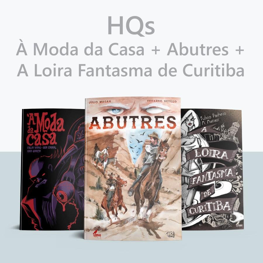 Combo À Moda da Casa + Abutres + A Loira Fantasma de Curitiba  - Loja da Editora Estronho