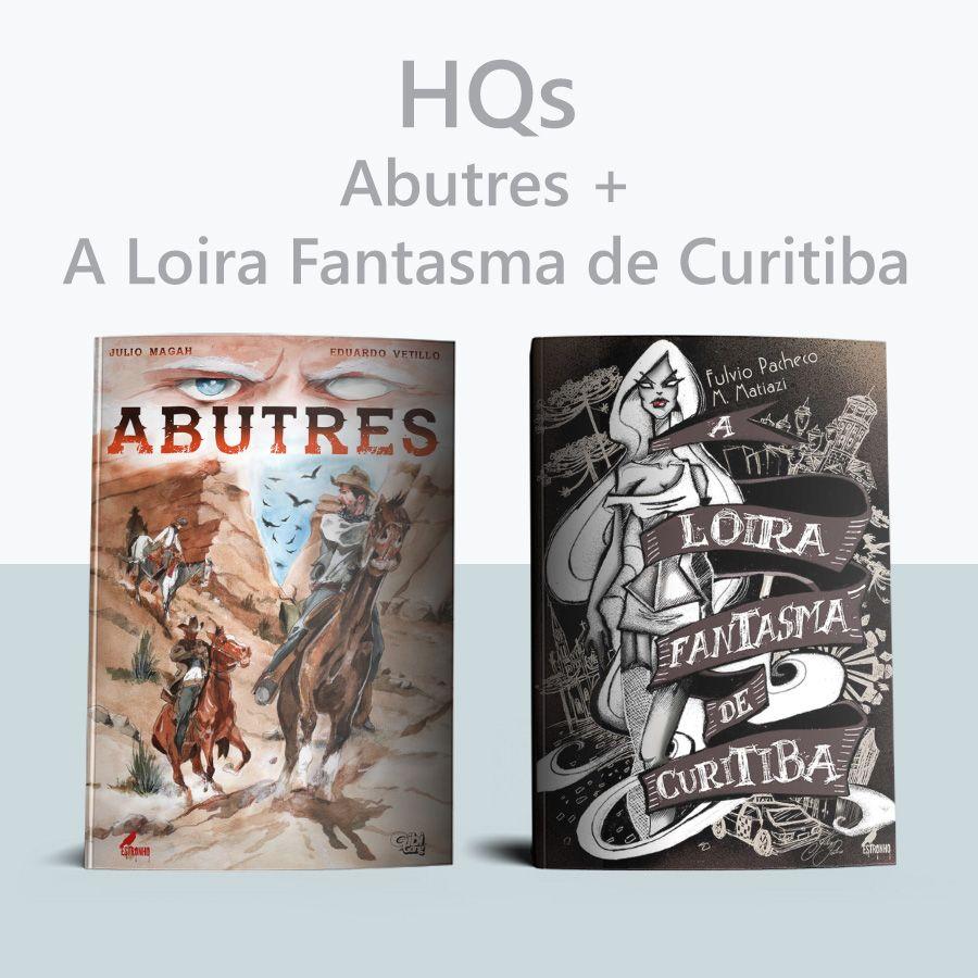 Combo Abutres + A Loira Fantasma de Curitiba  - Loja da Editora Estronho