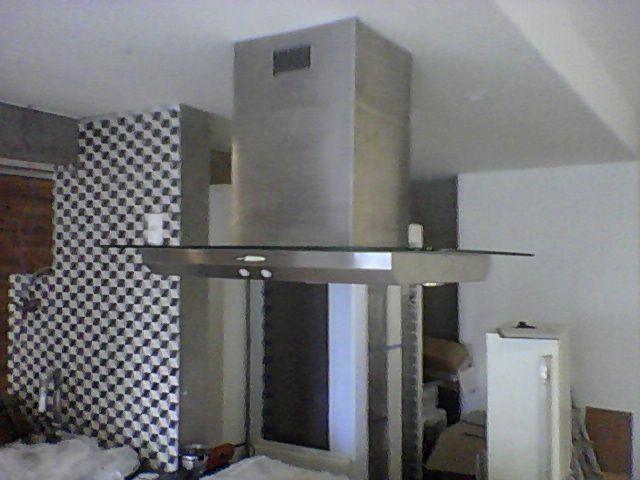 Coifa Arwek Eletrostática Luna Ilha Vidro/inox 1000