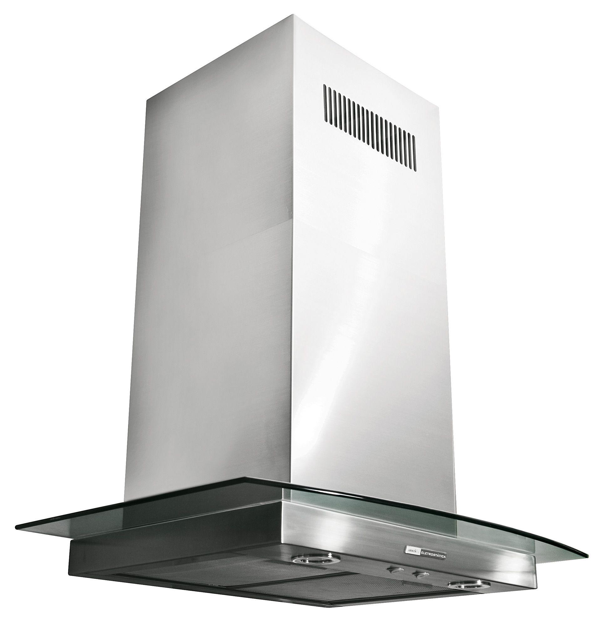 Coifa Arwek Eletrostática Sunshine Glass Ilha 1000