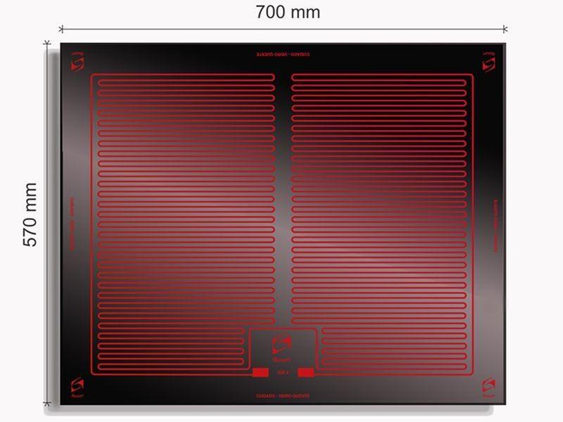 Vidro Termoelétrico  Flat 70 x 57 - Sobrepor