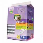 Fralda Descartável de Cachorro - Tam P - Pacote com 12 Unidades