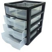 Gaveteiro Organizador Pequeno Plástico C/4 Gavetas - Nitron