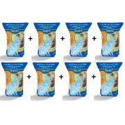 Kit 8 Areia Sanitária Cristais de Sílica em Gel - 1,8kg - Chalesco