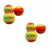 Kit C/6 Bola Bolinhas Kona Beach Tennis Nova Profissional