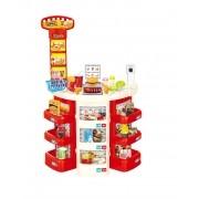 Kit Mercadinho Super Mercado Infantil Cozinha Infantil Balança Cesta 30pçs