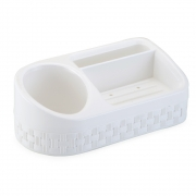 Porta Detergente Sabão Esponja Plástico Rattan C/base - Nitron
