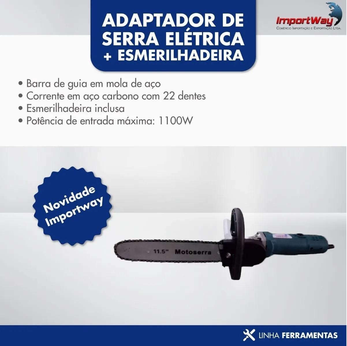 Adaptador De Serra Elétrica Moto Serra 110v + Esmerilhadeira - Importway