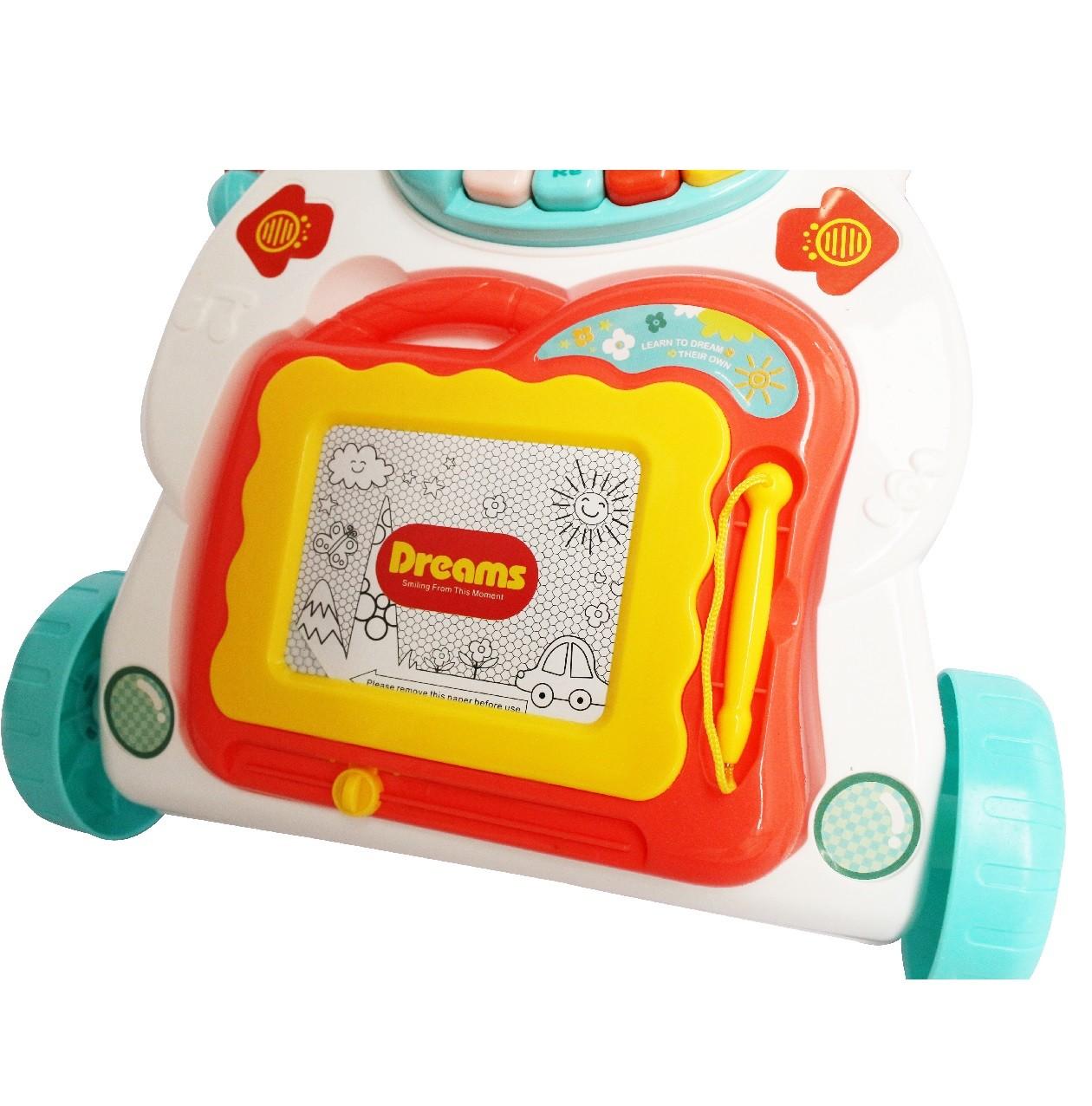 Andador Empurrador Musical Bebe Infantil Criança Lousa Magica