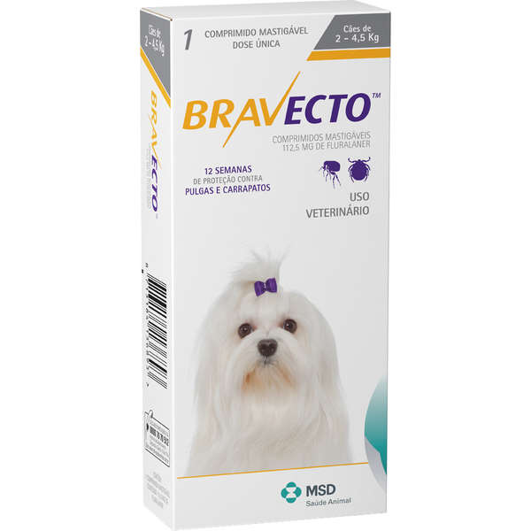 Antipulgas Bravecto De 2 A 4,5 Kg - Original