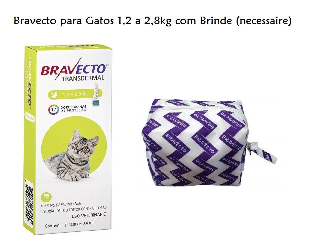 Antipulgas Bravecto Transdermal Gatos 1,2 A 2,8kg Val 12/20