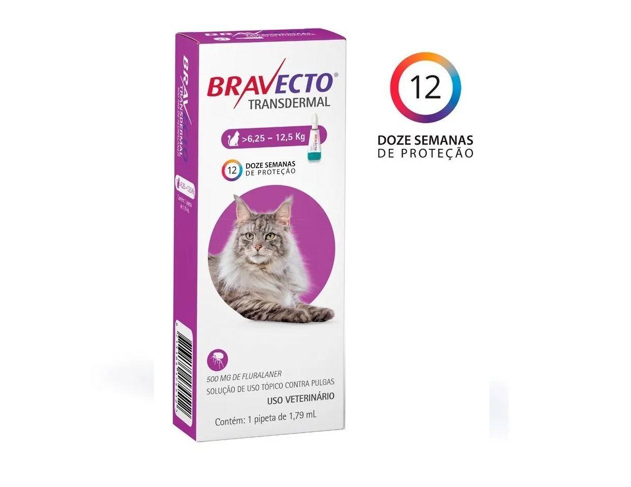 Antipulgas Bravecto Transdermal Gatos 6,25 A 12,5kg Val 12/20