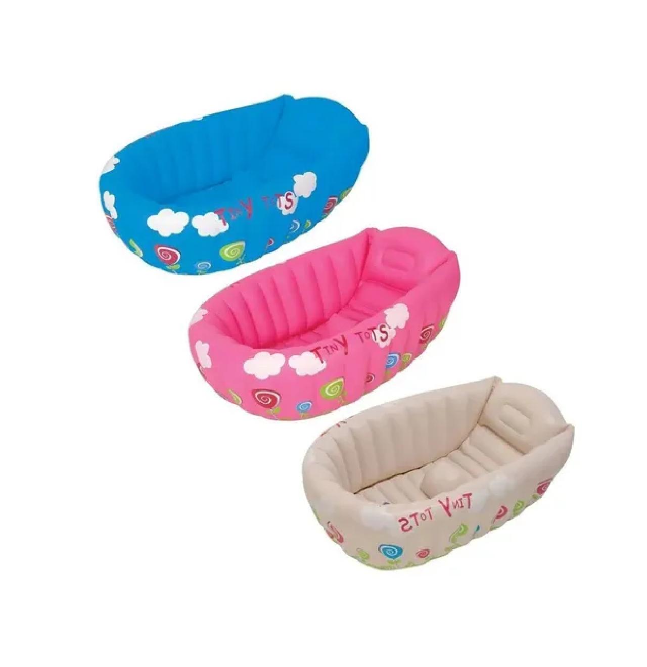 Banheira Berço Inflável Bebê Com Indicador Temperatura Mor