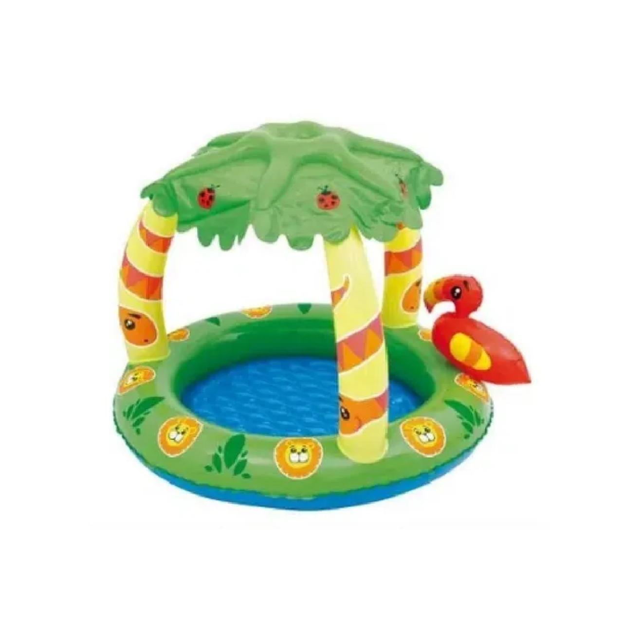 Banheira Tropical Bebe Infantil Piscina Banho Boia 45l Mor